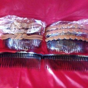 NWOT plastic combs